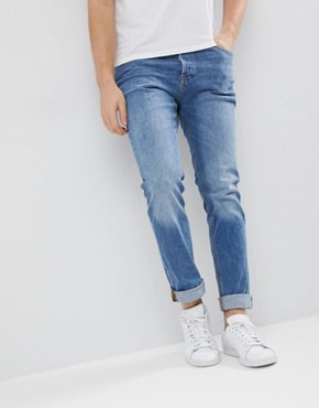 Jack & Jones Intelligence Jeans In Slim Fit Organic Cotton - Blue am654