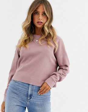 ASOS DESIGN oversized sweat in waffle with exposed seams