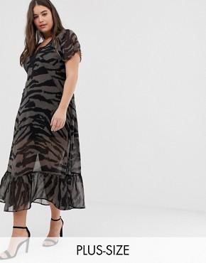 Religion Plus maxi dress in zebra