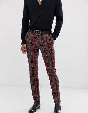 Twisted Tailor super skinny suit trousers in bold check