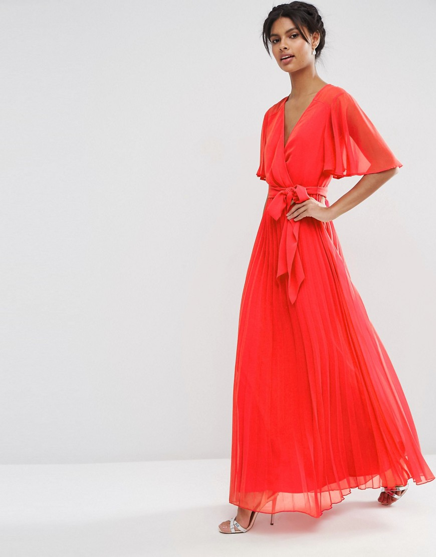Image 4 of ASOS Pleated Maxi Dress