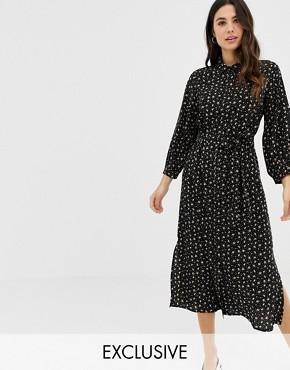 Fashion Union midi shirt dress in floral heart print
