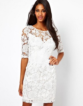 Lipsy Lace Dress with 3/4 Sleeve