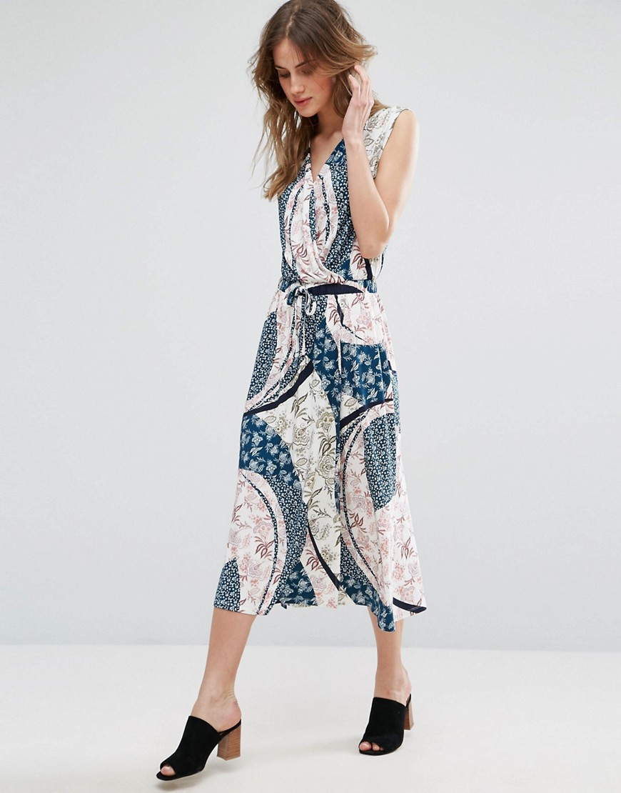 Warehouse Cutabout Paisley Midi Dress