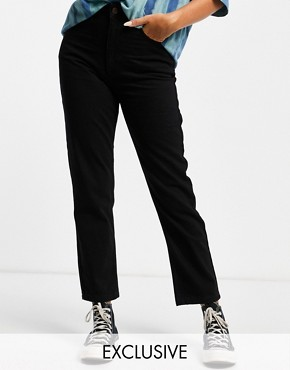 Reclaimed Vintage The '91 mom jean in washed black - Washed black