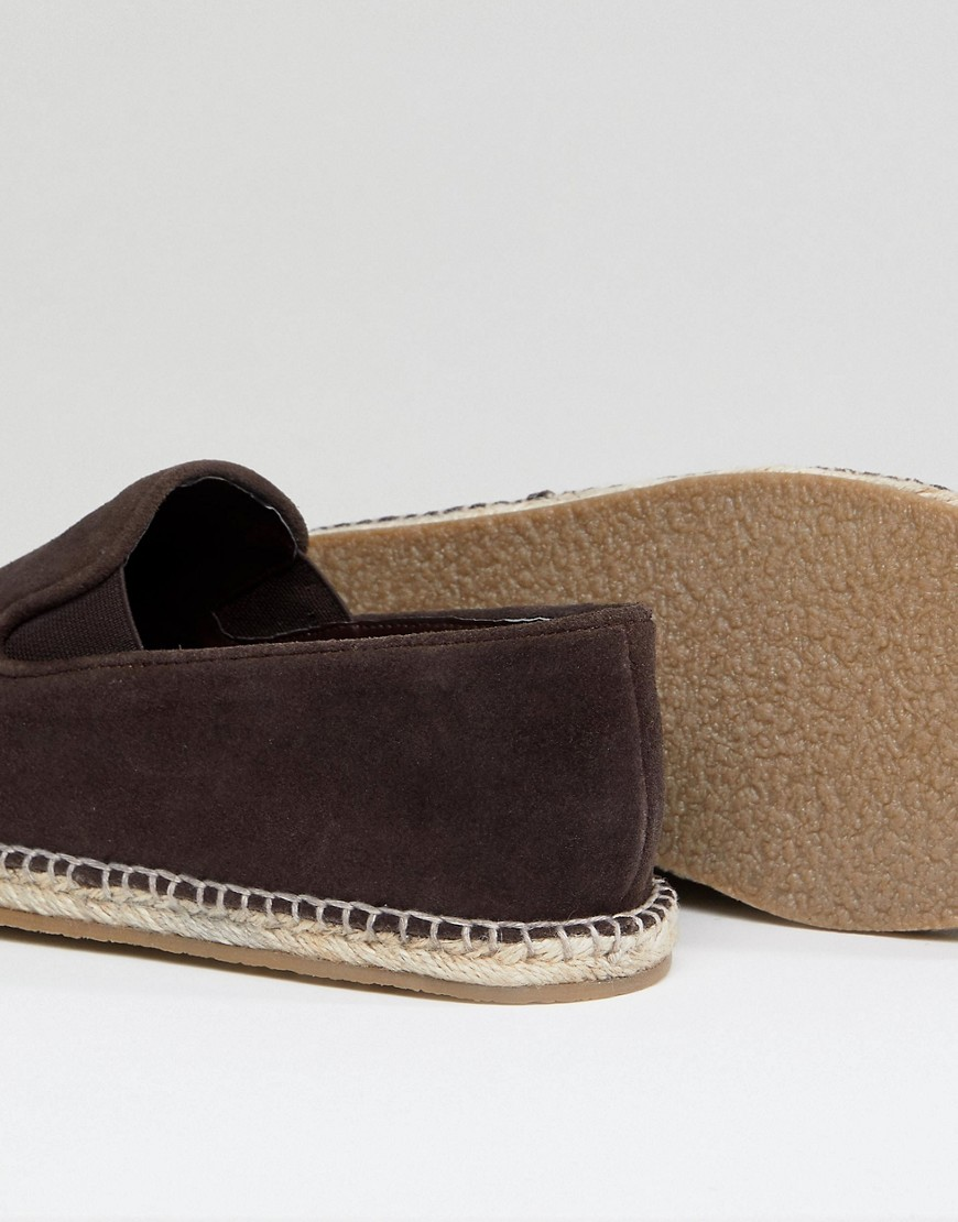 Marrone uomo Espadrilles easy-on a pianta larga marrone scamosciato Marrone Frank Wright