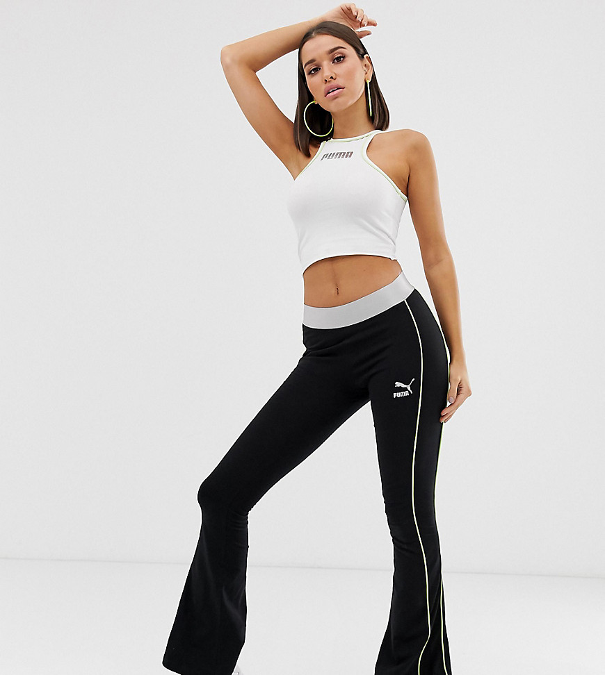 Puma Exclusive Metallic Flared Leggings - Black