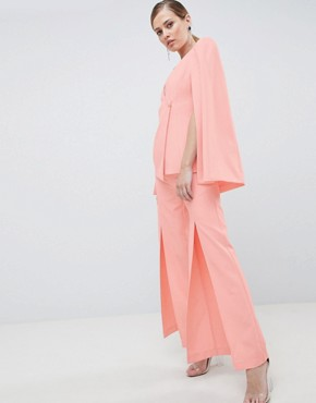 Lavish Alice Tailored Trouser with Splits - Pink