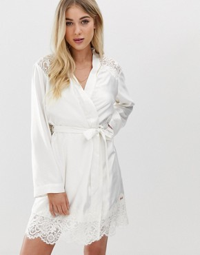 B By Ted Baker Tie The Knot bridal kimono dressing gown in ivory