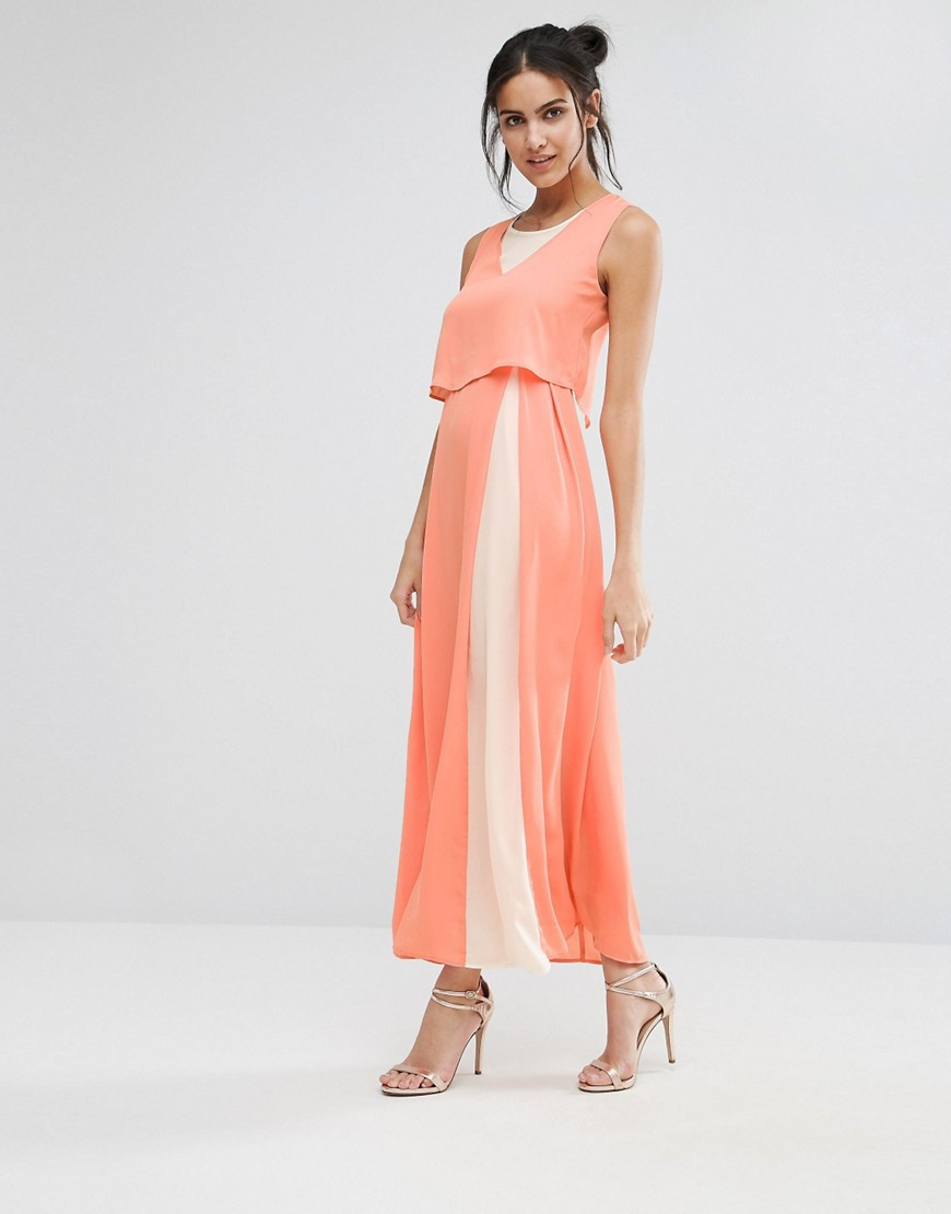 Jovanna Eternity Maxi Dress With Overlay Top