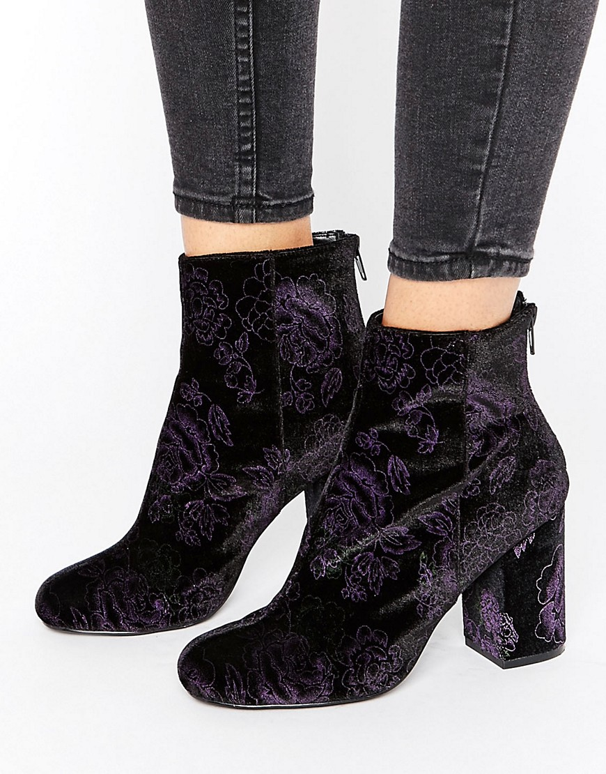 Product photo of Shoelab velvet floral boot floral velvet