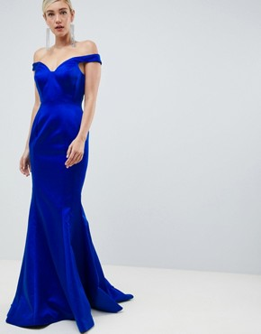 Jovani Sweetheart Fishtail Dress - Blue