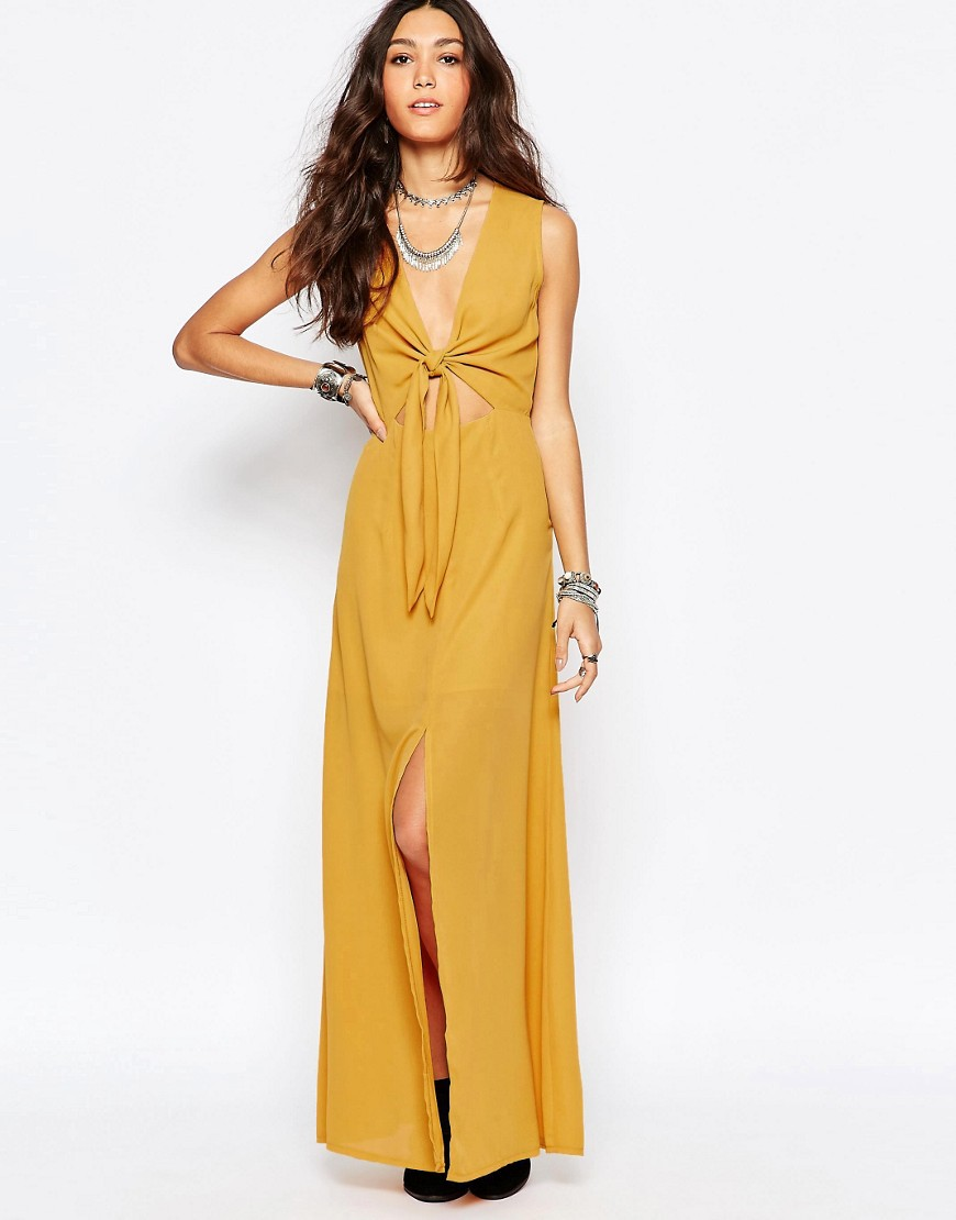 Wyldr Bow Front Maxi Dress