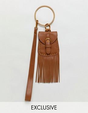 Sacred Hawk Mini Bag With Tassel
