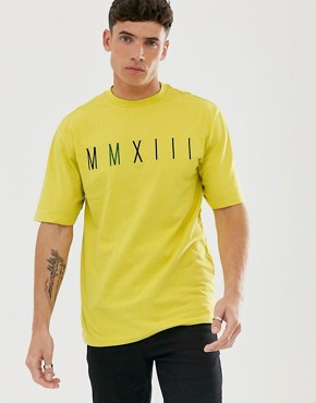 Only & Sons oversized t-shirt in neon green