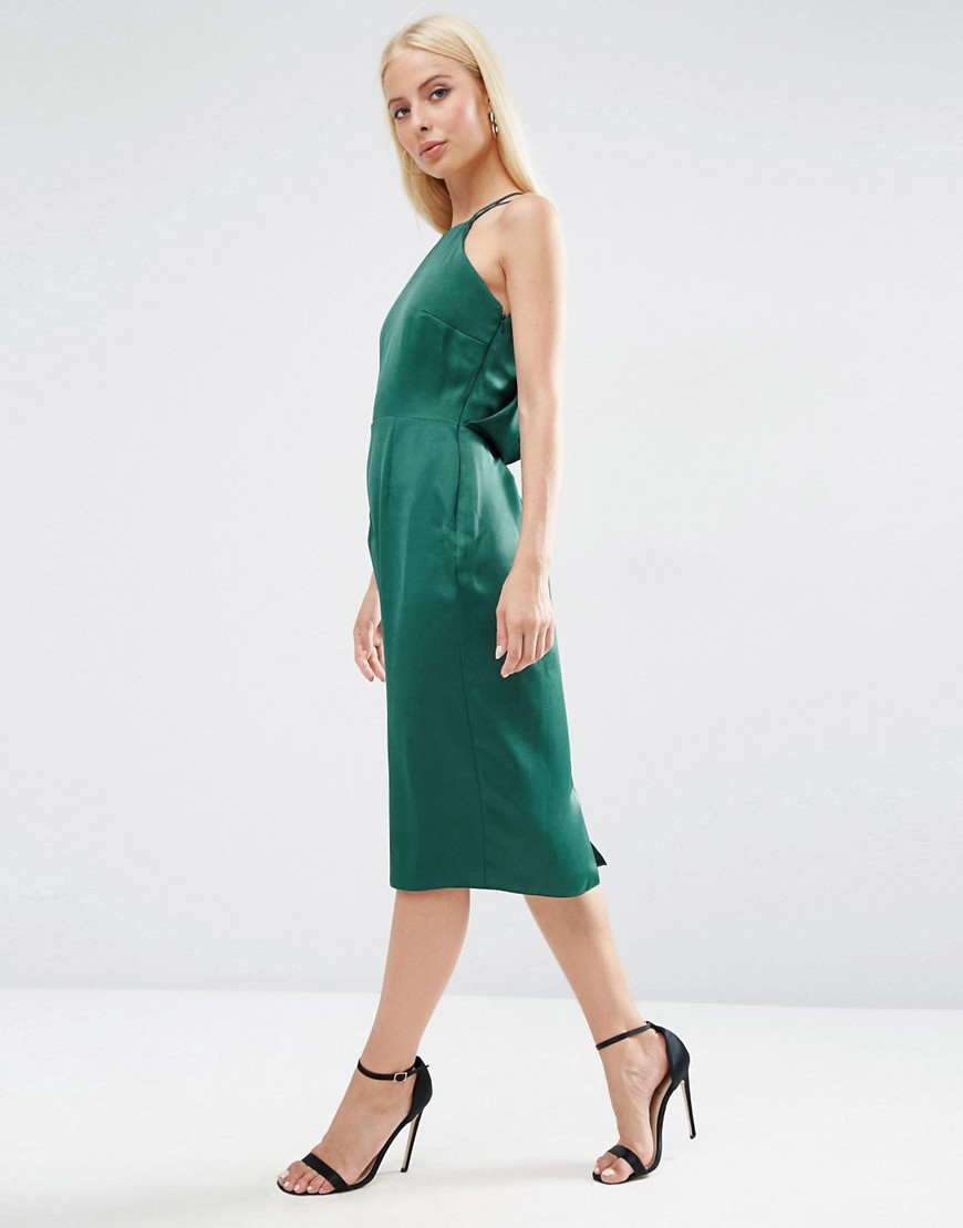 Image 2 of ASOS Drape Back Pencil Dress