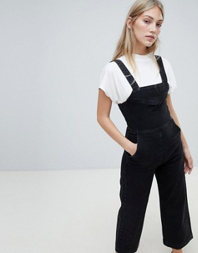Weekday Wide Leg Denim Jumpsuit