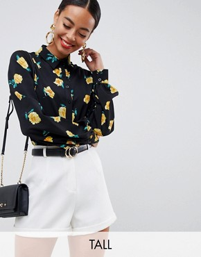 Fashion Union Tall shirt in floral print - Yellow boom
