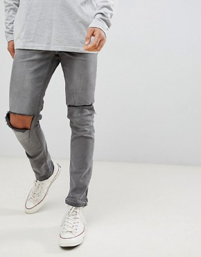 Antioch Ripped Skinny Jeans with Unrolled Hem