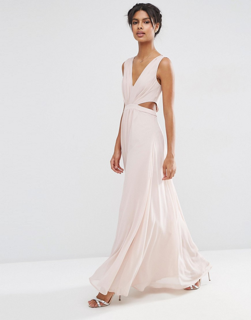 Image 1 of ASOS Side Cut Out Maxi Dress