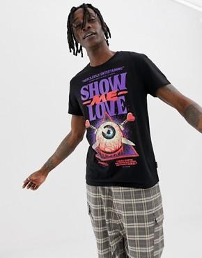 Cheap Monday Standard T-Shirt With Love Poster Print - Black