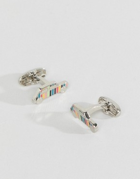 Paul Smith Classic Stripe Mini Cufflinks - 96