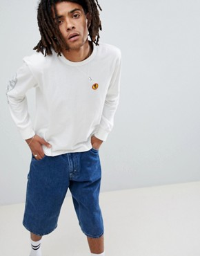 Brixton Fang Long Sleeve T-Shirt With Sleeve Print