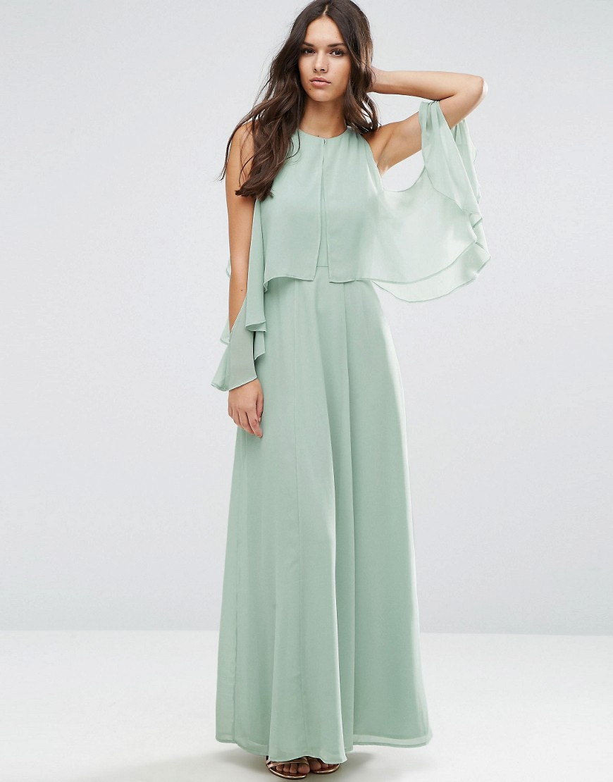 Image 1 of ASOS Extreme Cold Shoulder Maxi Dress