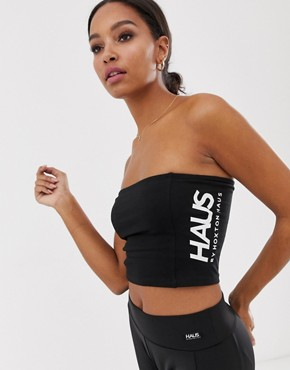 Haus by Hoxton Haus boob tube in black