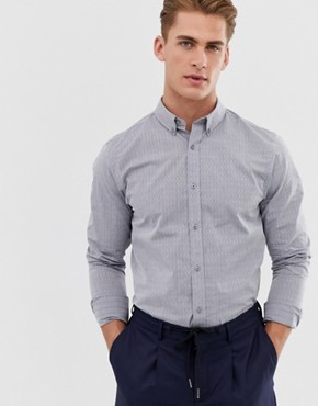 Ben Sherman Diamond Jacquard Shirt