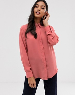 ASOS DESIGN long sleeve soft shirt