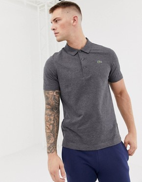 Lacoste Sport logo polo in dark grey