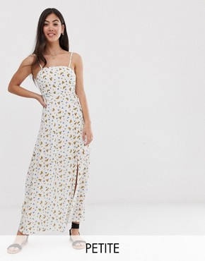 Vero Moda Petite floral square neck maxi dress