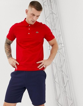 Lacoste Sport logo polo in dark red
