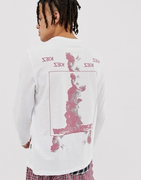 YOURTURN long sleeve t-shirt with graphic print in white