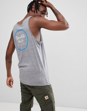 Brixton Wheeler Vest With Back Print