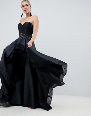 Jovani Sweetheart Neck Strapless Dress - Black