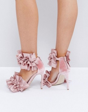 Jeffrey Cambell Tangos Blush Heeled Sandals