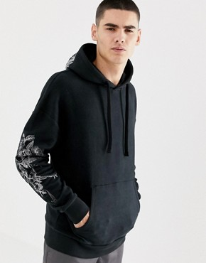 Jack & Jones Originals Hoodie With Hood And Sleeve Embroidery