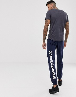 Superdry Sport core sweat joggers in navy