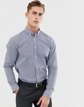 Ben Sherman Gingham Shirt In Navy