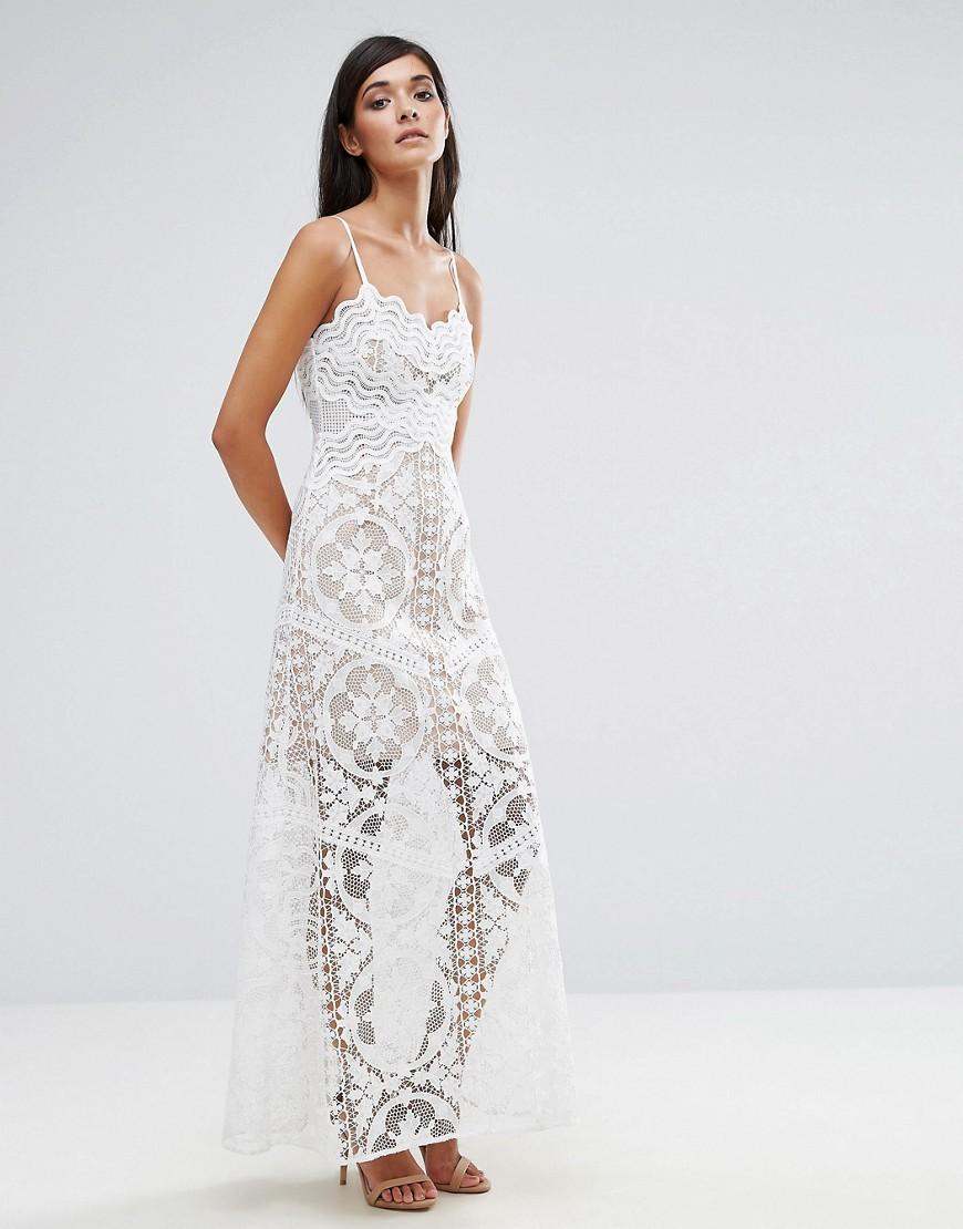 Aijek Lace Maxi Dress