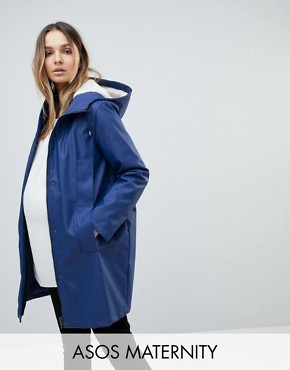 ASOS MATERNITY Borg Raincoat