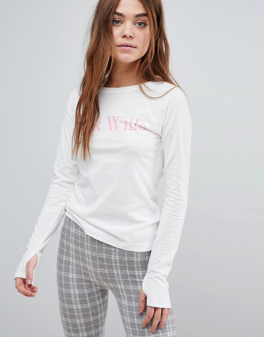 Jack Wills Raglan Logo T-Shirt - White
