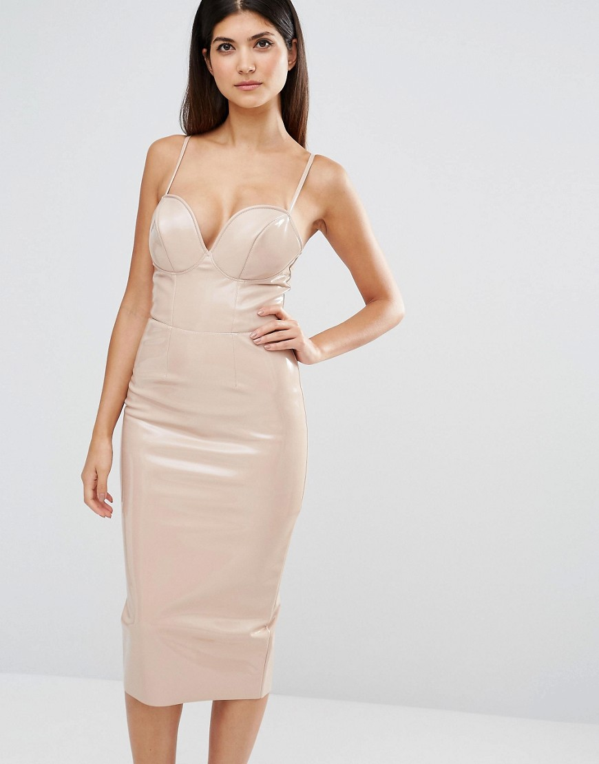ASOS FULLER BUST PU Bodycon Dress