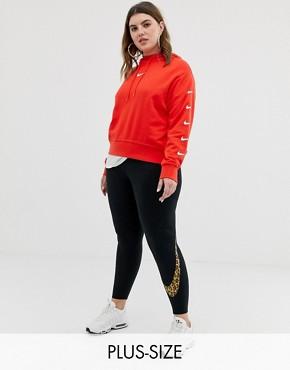 Nike plus legging in animal print