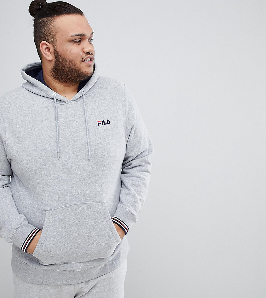 Fila Vintage Hoodie With Small Script In Grey - Grey