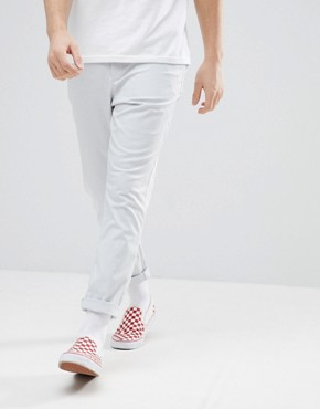 ASOS DESIGN Tapered Chinos In Ice Grey - Glacier grey