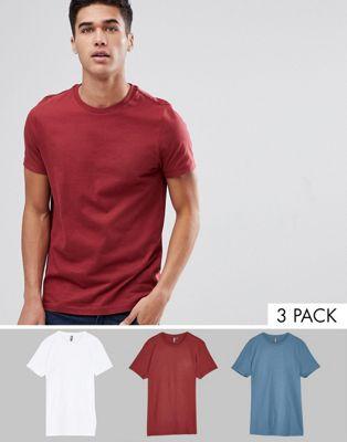 3 футболки с круглым вырезом ASOS DESIGN - СКИДКА
