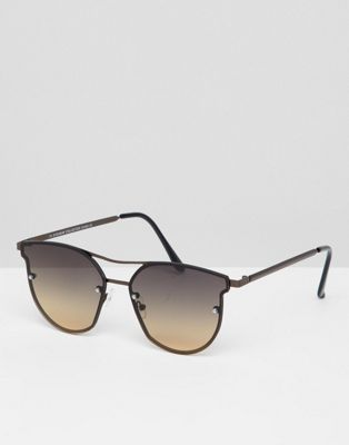7x Angled Sunglasses With Faded Lens